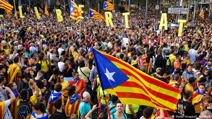 Spanien: Proteste in Barcelona (Getty Images/J. Mitchell)