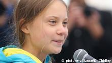 Kanada, Edmonton: Greta Thunberg vor dem Alberta Legislature Building