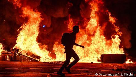 BdT, Katalanische Demonstranten rufen zum Generalstreik auf (Getty Images/J. J. Mitchel)