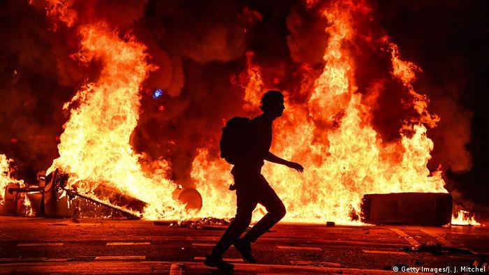 BdT, Katalanische Demonstranten rufen zum Generalstreik auf