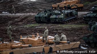 Türkei-Syrien Konflikt - Kampfpanzer Leopard 2 (AFP/Getty Images/O. Kose)