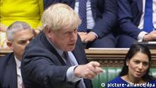 Premierminister von Großbritannien, gibt im Unterhaus eine Erklärung ab