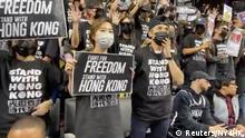 NBA Raptors vs Nets Protest Pro Hongkong Anti China