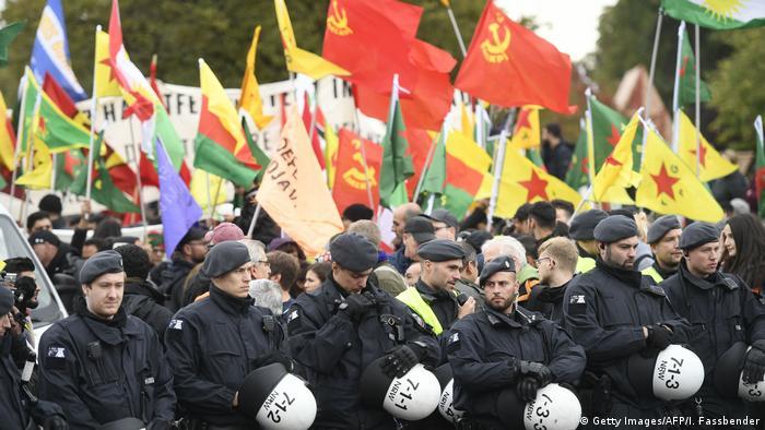 Köln | Kurdische Demonstration gegen die türkische Invasion Nordsyrien