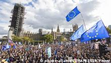 Thousands of protesters fill Parliament Square as MPs debate Prime Minister Boris Johnson's proposed Brexit deal