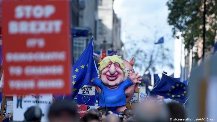 Großbritannien London   Demonstration für ein zweites Referendum (picture-alliance/AA/K. Green)