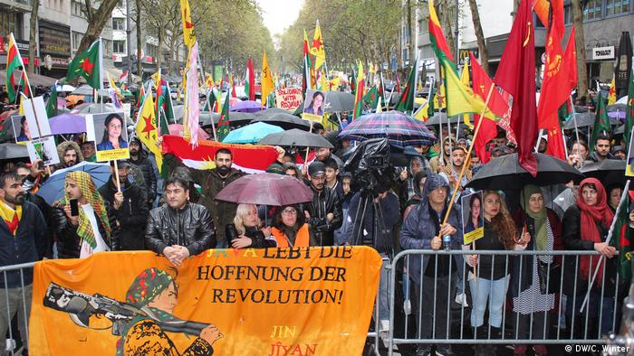 Protesters in Cologne
