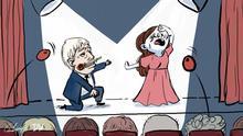 Karikatur Brexit nächste Runde. Rechte. DW