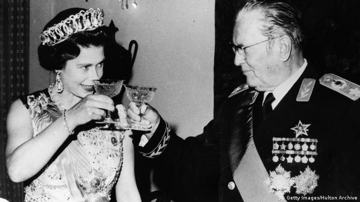 Tito i britanska kraljica Elizabeta II. na Belom dvoru u Beogradu 1972.