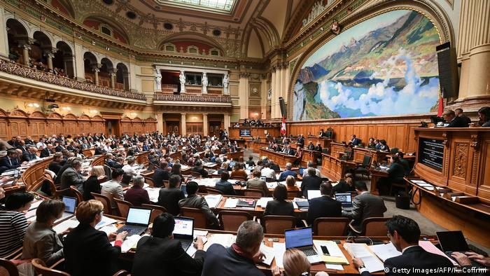 Schweiz Bern Parlament | Sitzung September 2019 (Getty Images/AFP/F. Coffrini)