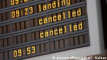 Deutschland Streik Ufo-Flugbegleiter | Flughafen Berlin-Tegel