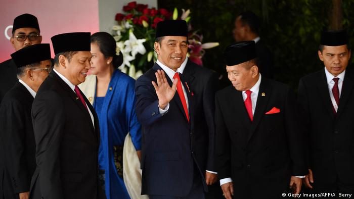 Indonesien Jakarta | Amtseinführung von Präsident Joko Widodo und sein Vizepräsident Ma'ruf Amin