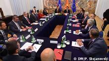 Nordmazedonien Sitzung des Nationalrats