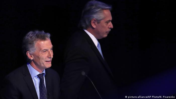 Argentina Presidential Debate Mauricio Macri Alberto Fernandez