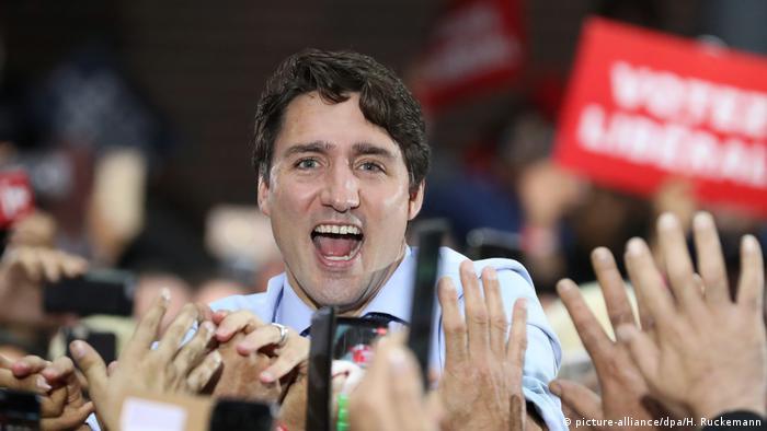Justin Trudeau durante la campaña electoral, en Vancouver.