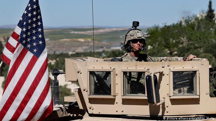 تصویر سربازی آمریکایی در سوریه