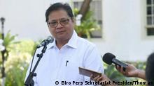 Indonesien Airlangga Hartarto, Industrieminister