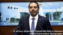 Libanon Krise | Saad Hariri, Premierminister