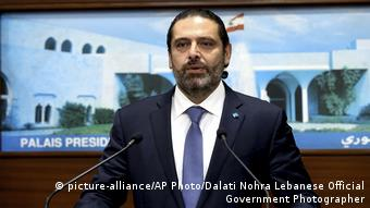 Libanon Krise | Saad Hariri, Premierminister (picture-alliance/AP Photo/Dalati Nohra Lebanese Official Government Photographer)