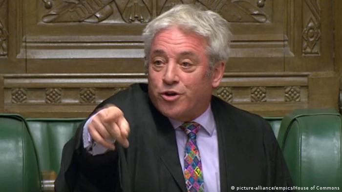 England Brexit Parlamentssprecher John Bercow (picture-alliance/empics/House of Commons)