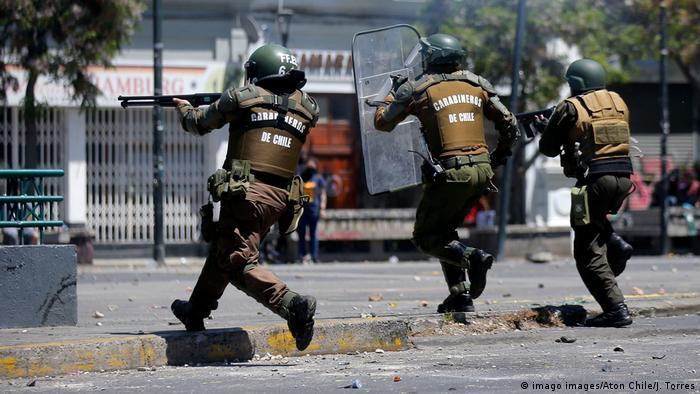 Resultado de imagen para represion violenta en chile 2019