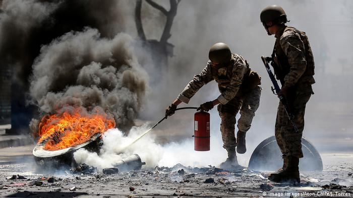 Chile Protest Valparaiso (imago images/Aton Chile/J. Torres)