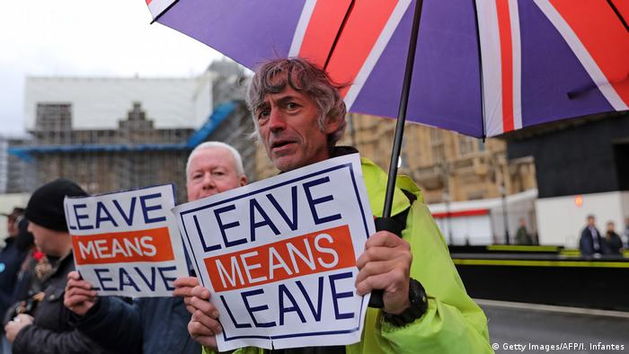 UK London Pro-Brexit Demonstration vor dem Parlament (Getty Images/AFP/I. Infantes)