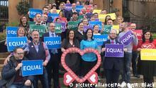 Nordirland Belfast Demonstration für Gleichgeschlechtliche Ehe