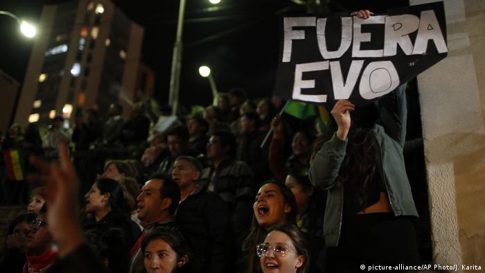 Protestas contra Morales.
