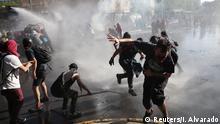 Chile Proteste Zusammenstöße mit der Polizei