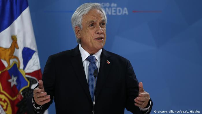 Chiles Präsident Piñera ruft Opposition zum Dialog auf