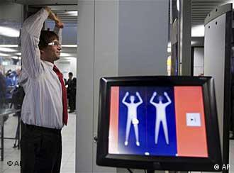 A man being scanned
