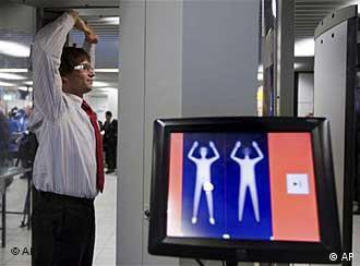 Новый досмотровый сканер в аэропорту Амстердама