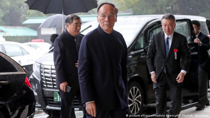 Japan Inthronisation Kaiser Naruhito in Tokio | Wang Qishan, Vizepräsident China (picture-alliance/Anadolu Agency/AP Photo/K. Sasahara)