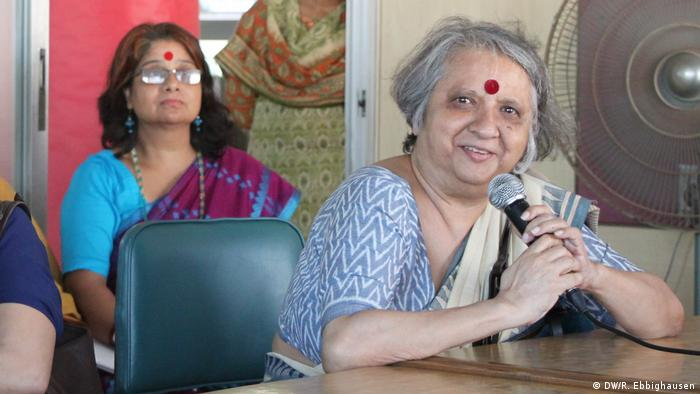 Women's rights activist Khushi Kabir (pictured above, right)