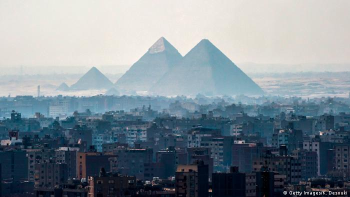 A view of the Pyramids of Giza on the southwestern outskirts of the Egyptian capital Cairo (Getty Images/K. Desouki)