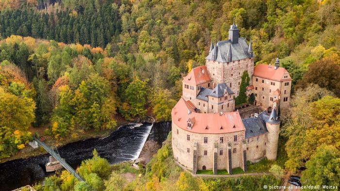 Замок Крибштайн (Burg Kriebstein)