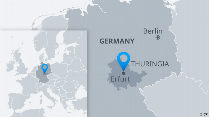 Map of Thuringia Erfurt
