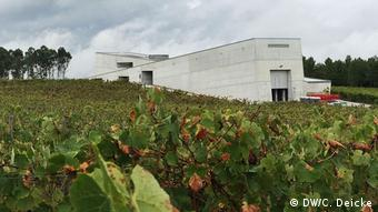 The strikingly modern Quinta da Teixuga wineyard building