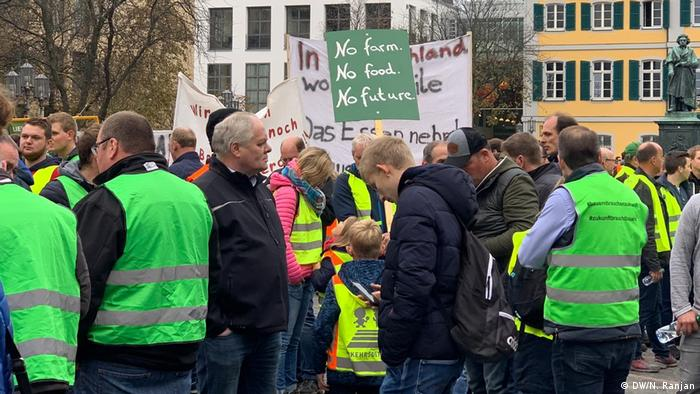 Deutschland Bonn | Protest der Landwirte gegen Agrarpolitik der Bundesregierung