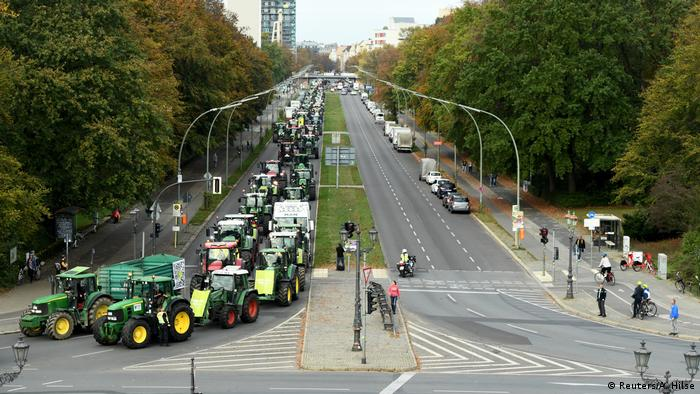 Farmers protest against the German agriculture policy in Berlin
