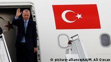 Türkei Erdogan auf der Reise nach Sotschi