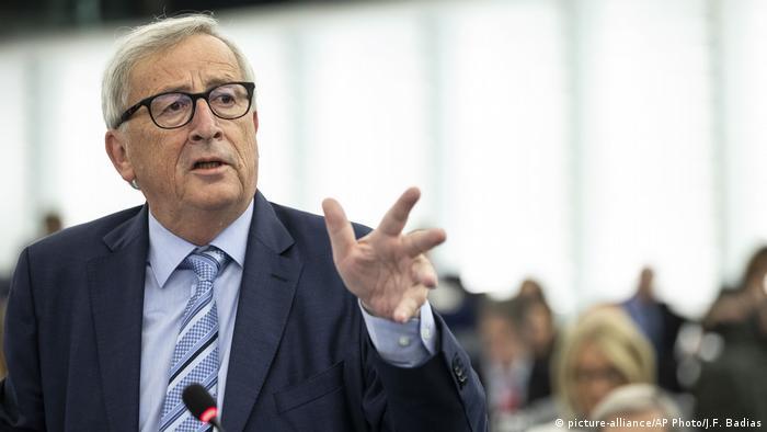 Жан-Клод Юнкер в Европарламенте, 22 октября 2019 г.