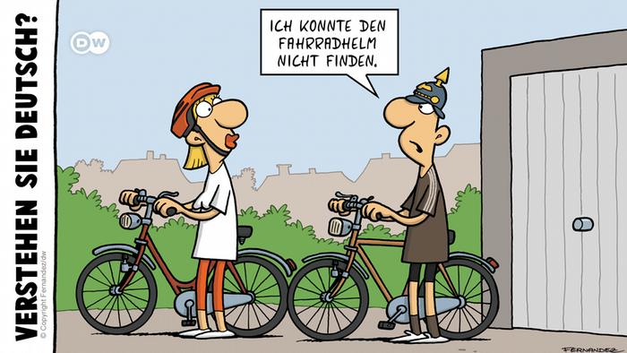 DW Euromaxx Comics von Fernandez | Verstehen Sie Deutsch? | Pickelhaube