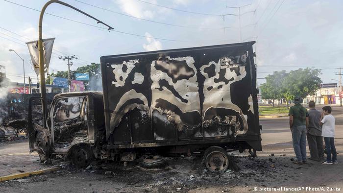 Destrucción en las calles de Culiacán, Sinaloa