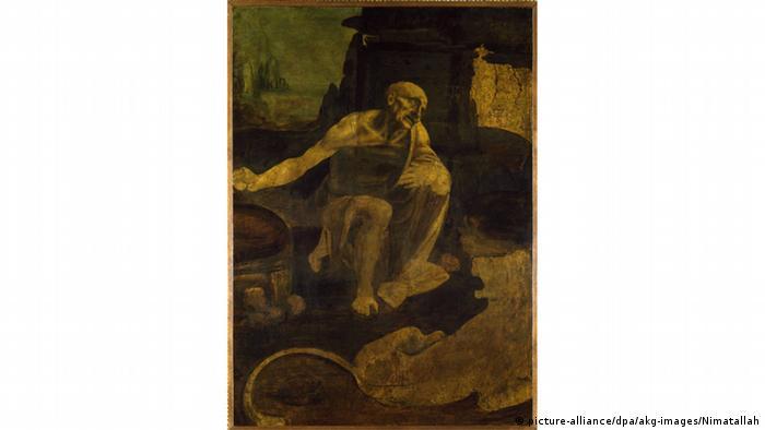 Der Heilige Hieronymus in der Wildnis von Leonardo da Vinci