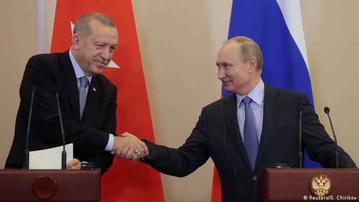 Зустріч президента РФ Володимира Путіна та його турецького колеги Реджепа Таїпа Ердогана 22 жовтня в Сочі