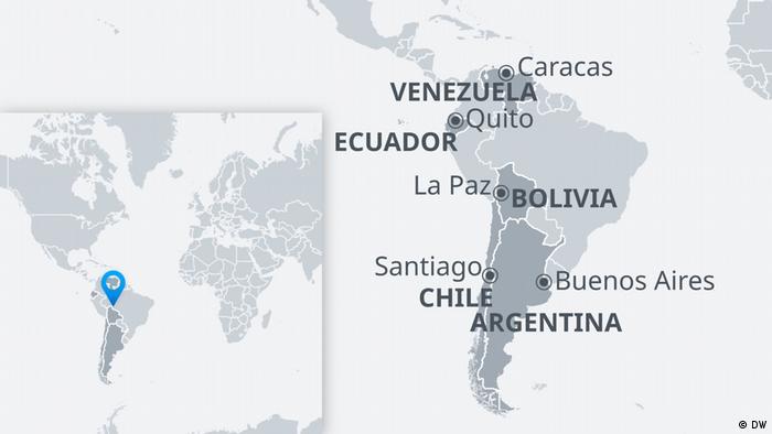 191022 DW Karte | Verschiedene Unruheherde Südamerika