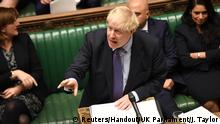 Britain's Prime Minister Boris Johnson is seen at the House of Commons in London, Britain October 22, 2019. ©UK Parliament/Jessica Taylor/Handout via REUTERS ATTENTION EDITORS - THIS IMAGE WAS PROVIDED BY A THIRD PARTY