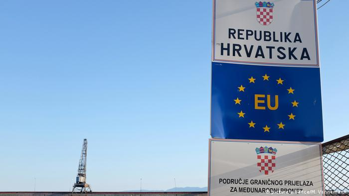 Grenzschild der Republik Kroatien